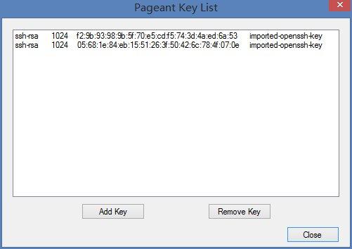 pageant密钥代理