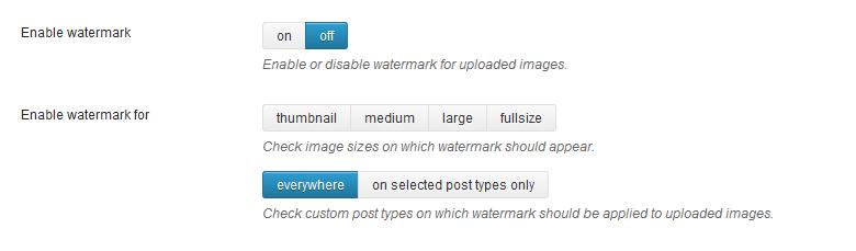 WordPress水印插件截图