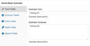 ButterBean 类似 WooCommerce 商品属性的可分组自定义字段管理插件