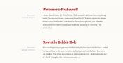 基于 React JS 以文字为主的单页面 SPA WordPress 主题 Foxhound